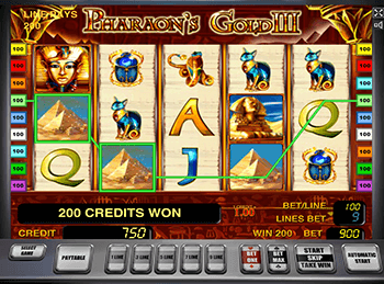 Pharaohs Gold III на зеркале казино Вулкан